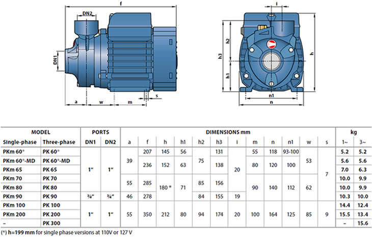 Pedrollo pkm peripheral impeller pump on pedrollo pump wiring diagram Electric Water Pump for House Freedom 60 Pump