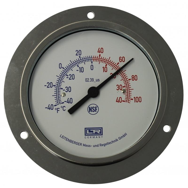 HVAC Thermometer 02.39 Analog Panel SS Case