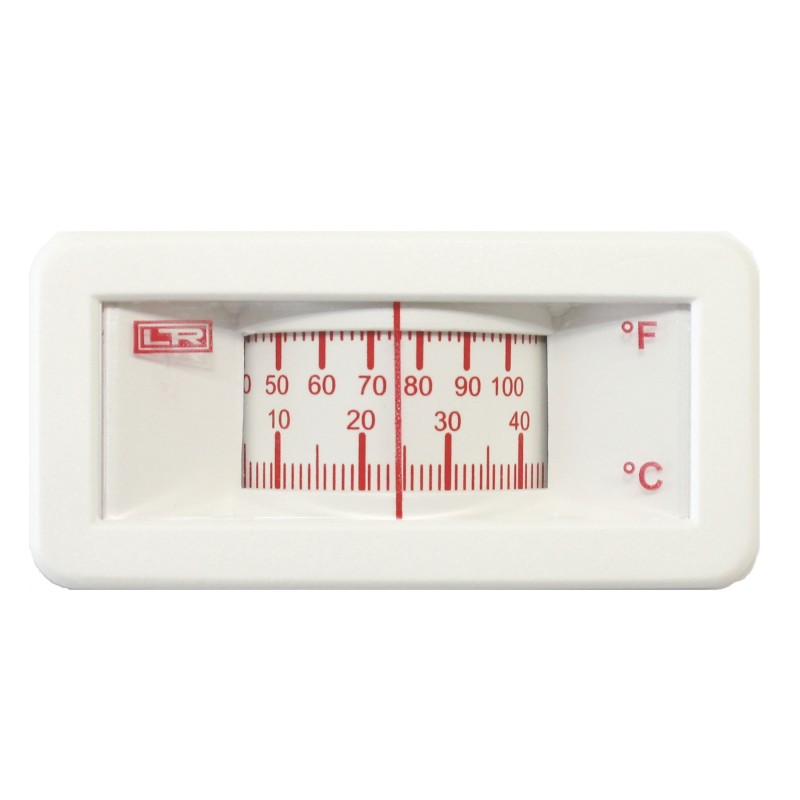 HVAC Thermometer 02.00 25x58 Analog Panel ABS Case