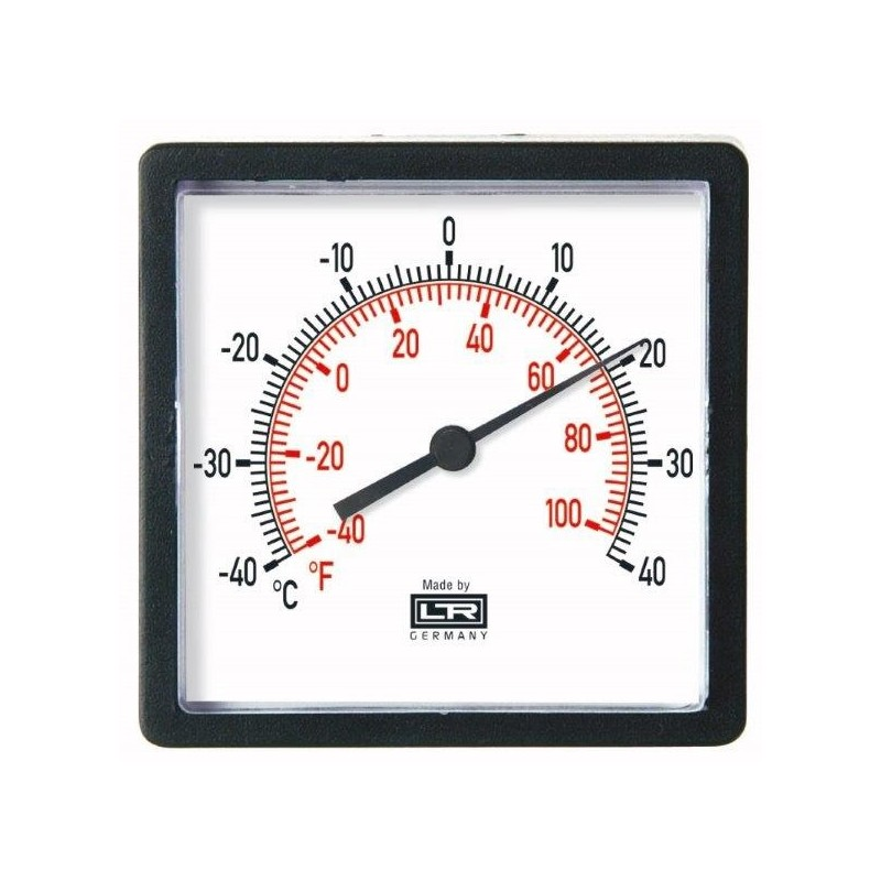 HVAC Thermometer 02.72 Analog Panel ABS Case