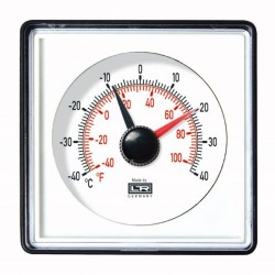 04.12 Telethermostat in Steel-Case or ABS-Case For Front Panel Mountig with U-Clamp