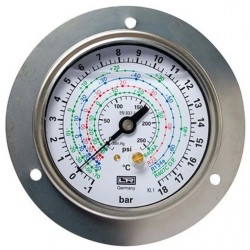 Leitenberger HVAC Pressure Gauge type MFG with Flange