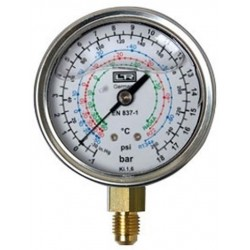 Leitenberger HVAC Pressure Gauge type MGU with Glycerine