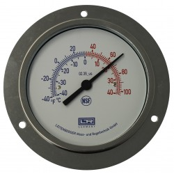 Leitenberger Heat Thermometer 02.31 Analog Front Panel Mount SS Case