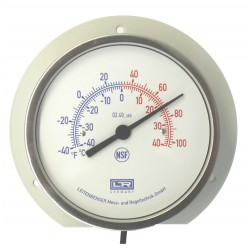 Leitenberger Heat Thermometer 02.41 Analog Surface Mounting Back Flange SS Case
