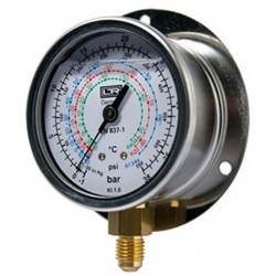 Leitenberger HVAC Pressure Gauge type MGH with Flange