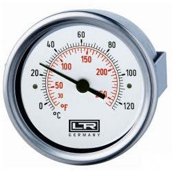 Leitenberger Heat Thermometer 02.13 Analog Front Panel Mount SS Case