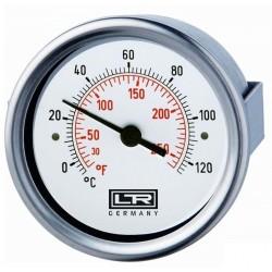 Termómetro de calor Leitenberger 02.41 Montaje superficial analógico Flange posterior Estuche SS