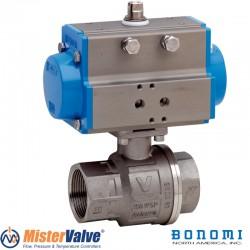Bonomi 8P0133 DA Ball Valve 2 Way Stainless Steel Full-Port FNPT Sizes 1/4 to 3