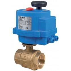 Bonomi 8E064LF-02 250N 2-way DM  Lead Free Brass ball valve 0/10 VDC or 4-20 mA Positioning Plastic electric actuator
