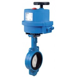 "Bonomi EN500S-00 butterfly valve with Std ON/OFF electric plastic actuator 1 1/2""-10"""