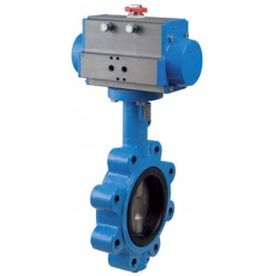 "Bonomi DAN501N butterfly valve with double acting actuator 2"" to 12"""